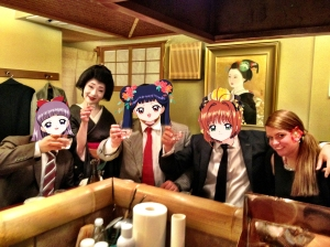 Geisha in a restaurant in Tokyo