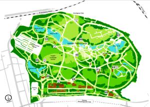 Map of Shinjuku gyoen park