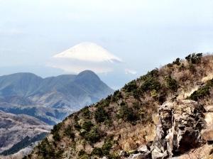 Mt fuji seen from one of the many hiking trails near Hakone