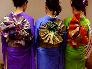 The obi can be very elaborate and beautiful.