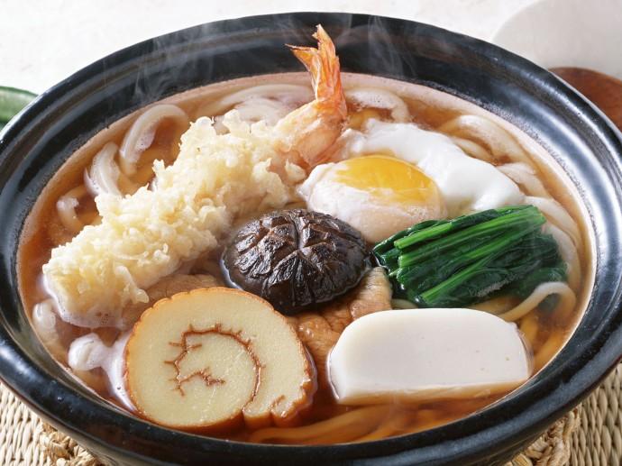 Hot udon noodles