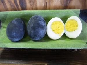 Black onsen eggs