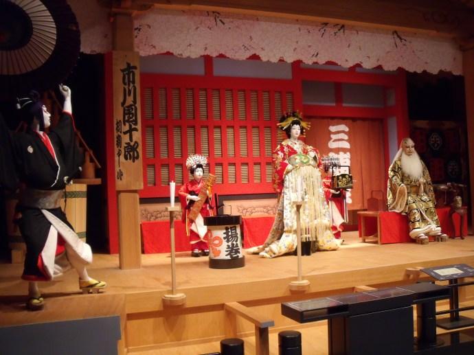 Example of Kabuki players in Tokyo Edo museum