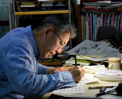 Fujihiko Hosono at his studio in Tokyo's Ota Ward (Kazunori Haga)