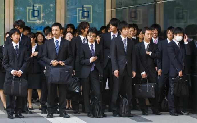 Office workers (salary men) hit hard by 'May disease'