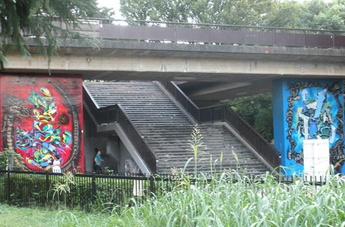 Yoyogi park, stairs towards shibuya