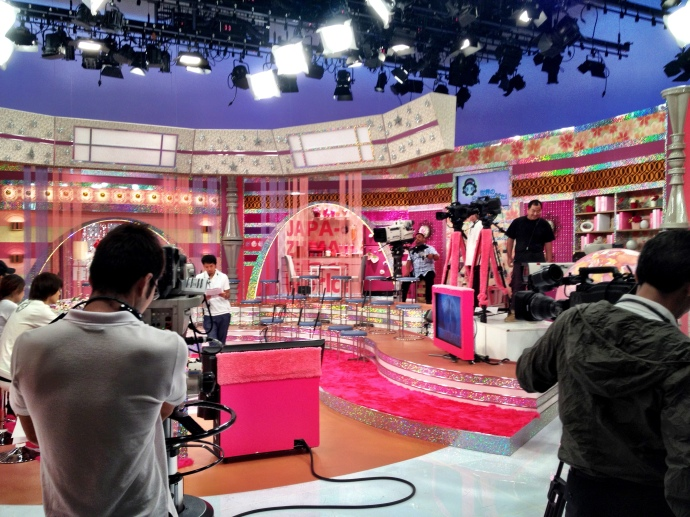 Inside the studio (pre taping)