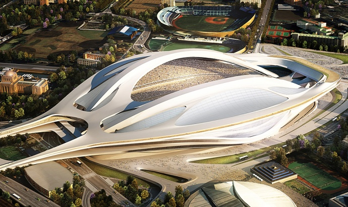 Design for the newly refurbished stadium for the 2020 Tokyo Olympic games.